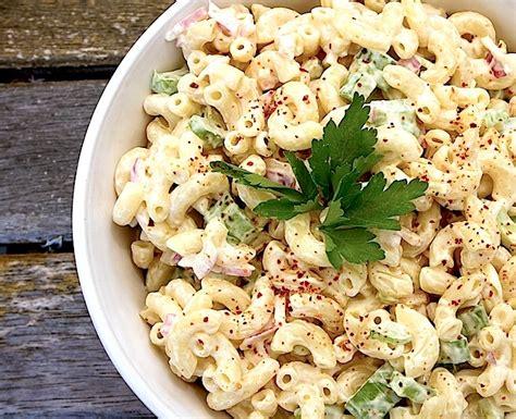 classic pasta salad classic macaroni salad chez us