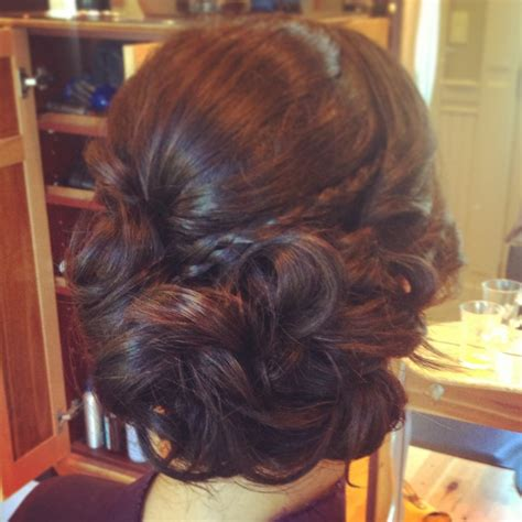 nyc salon for best formal hair updo or braids prom hair soft side updo shannon the spa ottawa