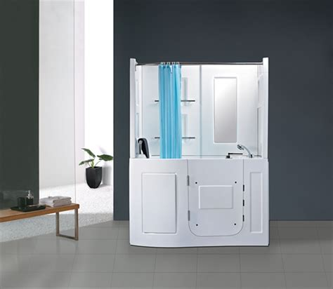 walk in bath shower combo hs b1106b front door walk in tub shower combo with seat bathtub view walk in tub shower combo
