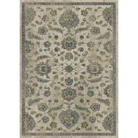 Shop Allen Roth Portsbury Beige Rectangular Indoor Woven 10 X12 Area Rug