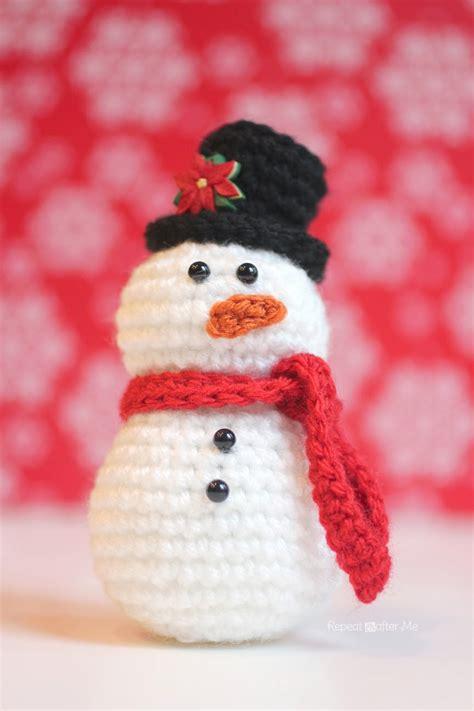 amigurumi snowman pattern free crochet snowman pattern repeat crafter me bloglovin