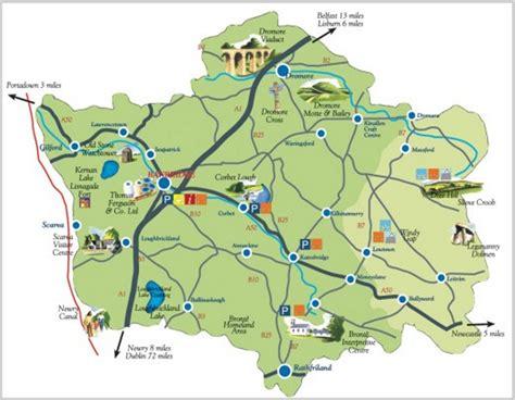 tourist attractions in map banbridge district tourism map banbridge northern