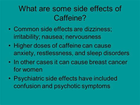 Side Effects From Detoxing Caffeine by Caffeine By Anaselis Delgado Ppt