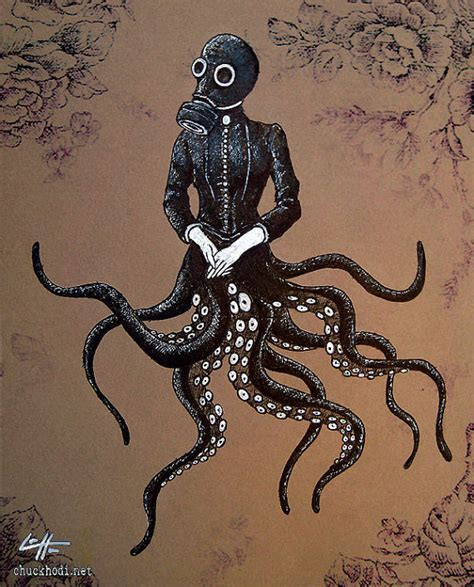 print 8x10 victoriandustrial 6 victorian octopus