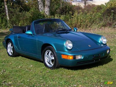 green porsche convertible 1993 wimbledon green metallic porsche 911 carrera 4