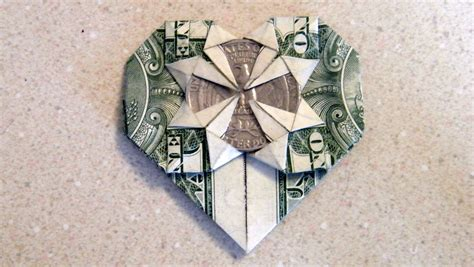 Money Origami With Quarter - origami asherao