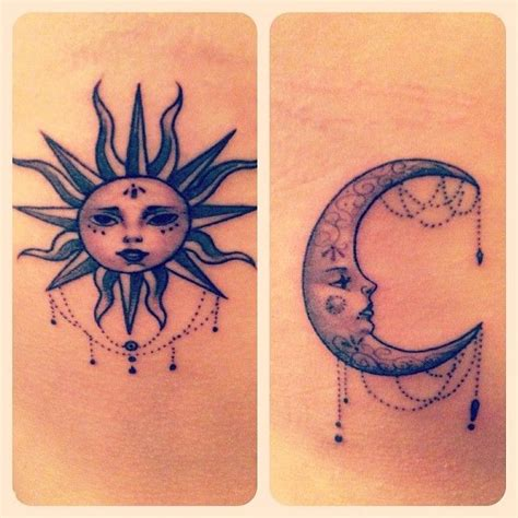 sun and moon best friend tattoos 17 best images about sun moon tattoos on