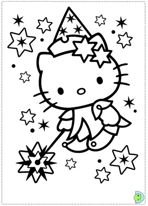 hello kitty coloring page dinokids org