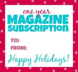 magazine subscription gift certificate template free printable gift tag for magazine subscriptions