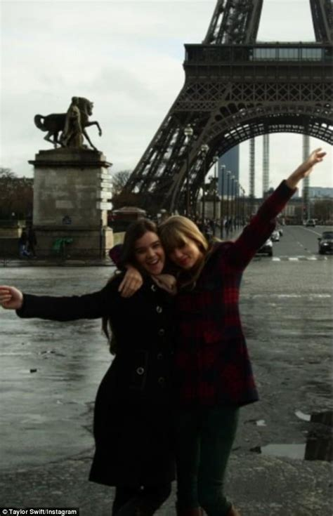 taylor swift tour paris taylor swift explores paris with true grit star pal hailee