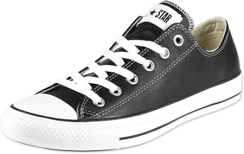 Coverse All converse all ox leather shoes black