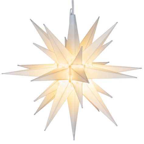 moravian star light set moravian 14 quot white led moravian