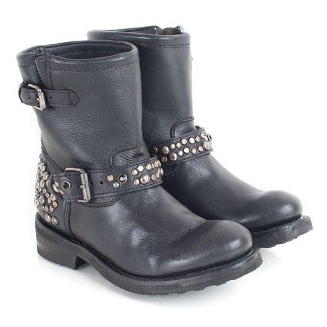 ash tornado s flat studded boot