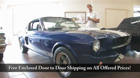1965 shelby mustang gt 350 tony flemings ultimate garage