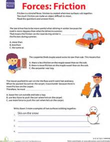 learn about force friction worksheet education com