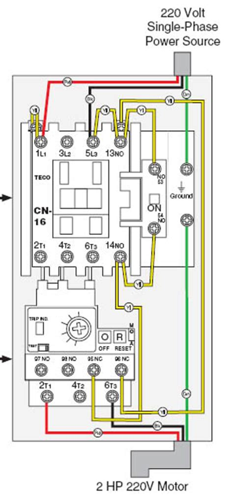 single phase contactor wiring diagram get free image