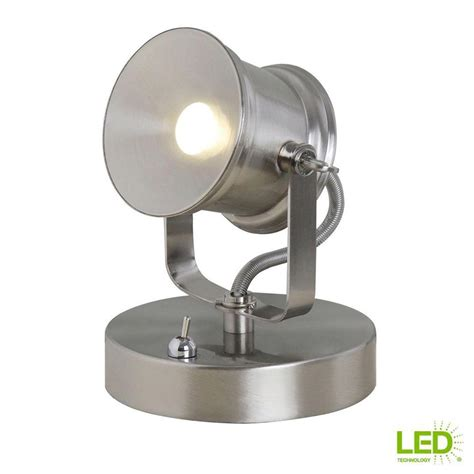 spot light desk lamp   brushed nickel integrated led