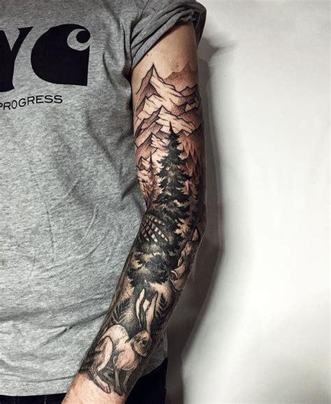 mountain tattoo sleeve sleeves tribal skulls mechanical school