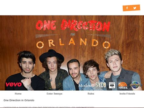 Today Show Orlando Sweepstakes - vevo one direction at universal orlando resort sweepstakes