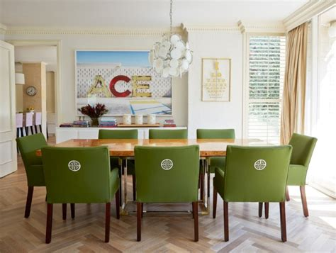 Green Dining Table And Chairs Stylish Upholstered Dining Chairs For Easy Design And Decor Traba Homes