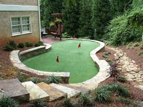 10 best putting green images on backyard