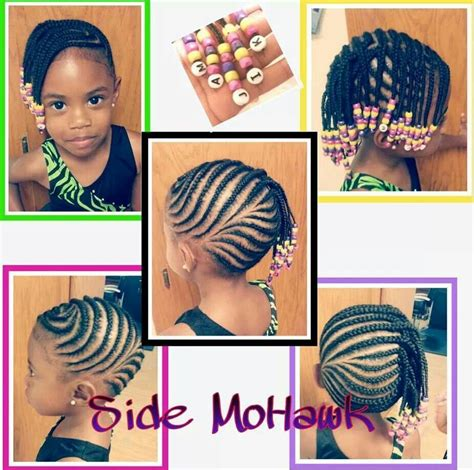 little girl hairstyles braided to the side love this cornrows kid styles pinterest cornrows