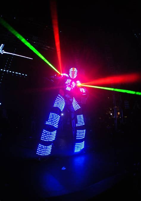 Lu Led Stitch guetta led robot suit stage performance costume light up