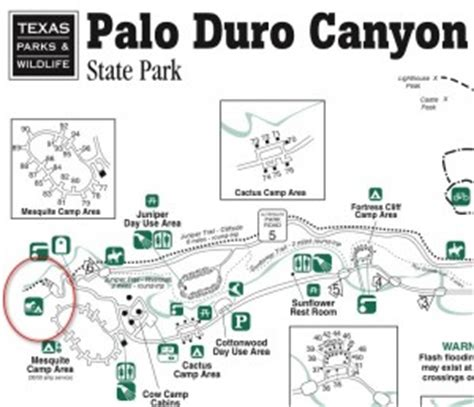 palo duro texas map backpacking in texas grand palo duro