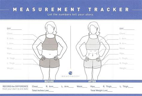 measurements template measurement tracker kirstenharr