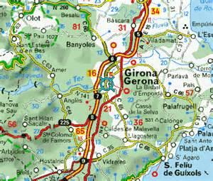 maps of girona