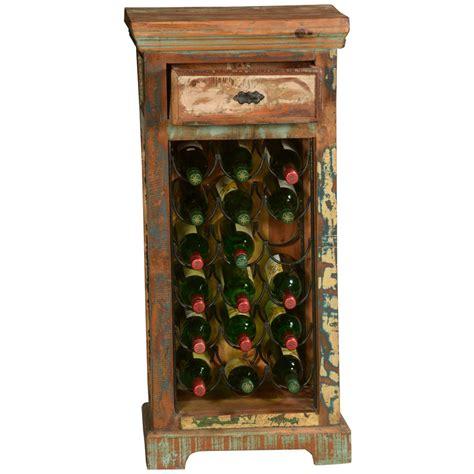 Repurpose Metal Wine Rack by Pioneer Rustic Reclaimed Wood Iron Wine Rack End Table