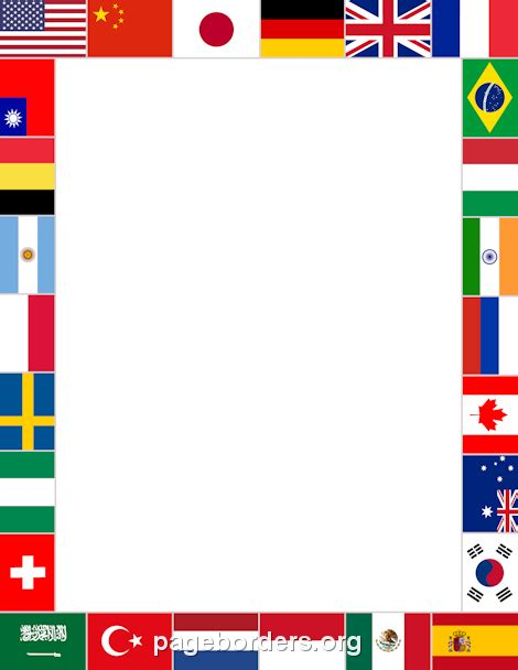flags of the world pdf download printable world flags border use the border in microsoft