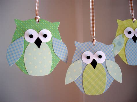 How To Make Paper Owls - kenenske paper owl mobile