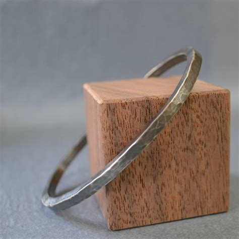 Handmade Blacksmith Products - handmade blacksmith s silver hammered bracelet by muriel