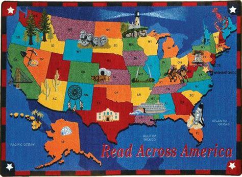 united states map rug read across america 169 classroom rug