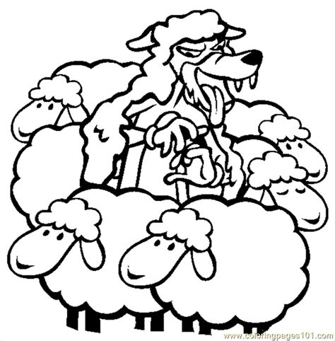 free boy who cried wolf coloring pages