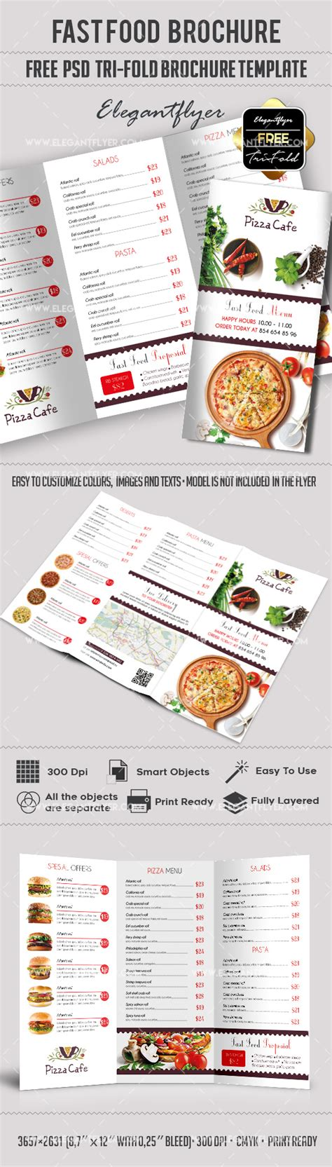 3d Brochure Templates Psd by Fast Food Free Psd Tri Fold Psd Brochure Template By