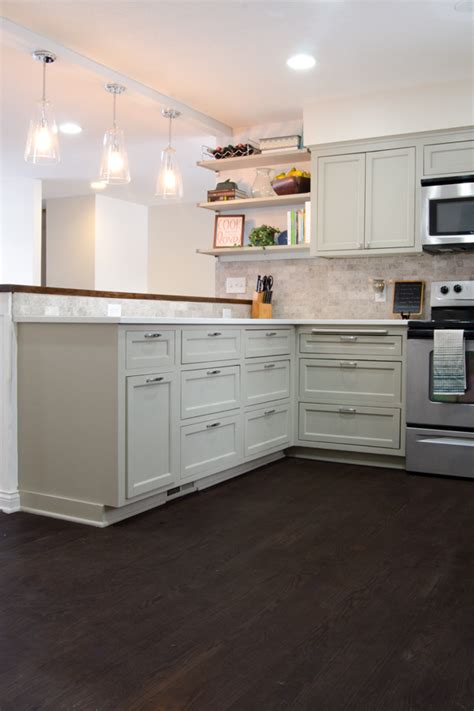 remodelaholic remodeled kitchen with refinished hardwood