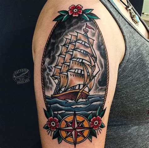 traditional ship tattoo best 25 traditional ship ideas on