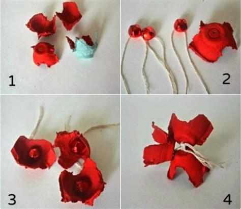cara buat bunga dari kertas emas kreasi bunga kertas dari karton bekas tempat telur