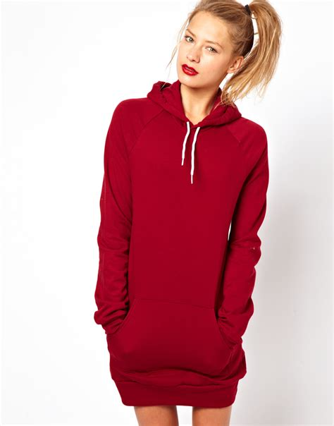 Dress Hodie american apparel hoodie dress in lyst