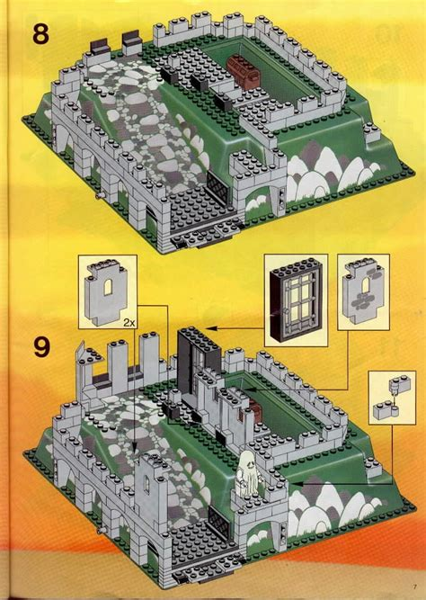 Home Building Blueprints Lego Kings Mountain Fortress Instructions 6081 Castle