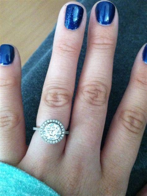 my halo engagement ring weddingbee