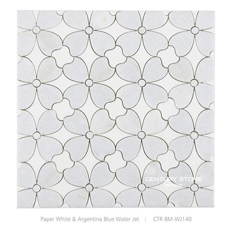 flower design marble polished water jet white marble mosaic flower patterns