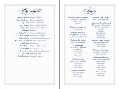 free graduation ceremony program template gse bookbinder co