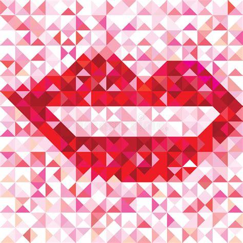 Geometric Pattern Of Love | seamless love pattern of geometric lip stock vector