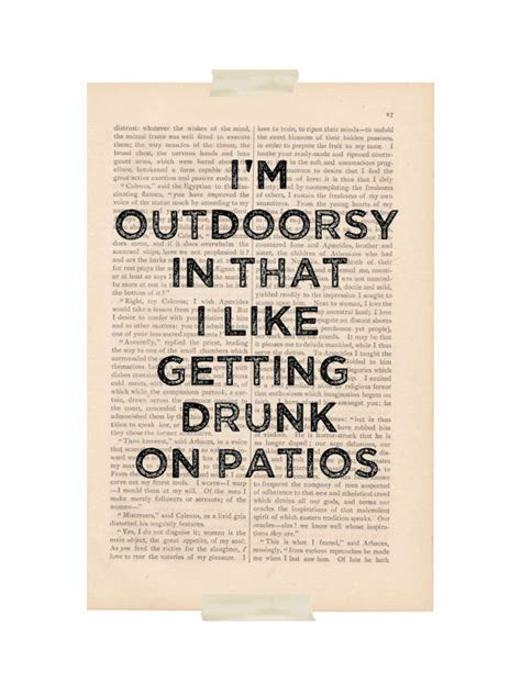 dictionary print i m outdoorsy in that i by