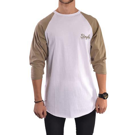 Sweater Polos Size M Kode Basic Baseball khaki white baseball t shirt simple clothing