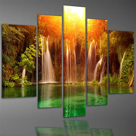 decoration painting china waterfall in deep forest canvas prints home decoration painting china canvas prints art
