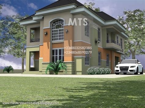 4 bedroom duplex designs nigeria 4 bedrooms residential duplex house plan house